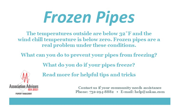 Frozen pipes.